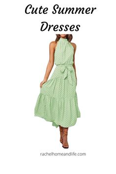 Find inspiration here for cute summer dresses to help keep you cool and comfortable on those beautiful hot summer days! #fashion #summer #dresses #womensclothing Spring Fashion Outfits, Spring Fashion Trends, Summer Outfits, Cute Summer Dresses, Spring Dresses, Spring Shoes, Summer Days, Beachwear, Fashion Looks