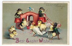 Vintage Fantasy Humanized Chicks Wedding Carriage Bunnies U s Clapsaddle C1910 | eBay