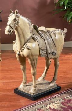 tang horse sculptures | LARGE WHITE TANG HORSE STATUE