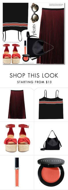 """Give Me Pleats, Please!"" by svijetlana ❤ liked on Polyvore featuring Valentino, Christian Dior, Bobbi Brown Cosmetics, embroidered, pleats and zaful"