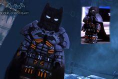 Batman Arkham origins, dlc cold cold heart, Batman XE suit.   by artfiks15