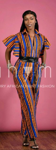 Sugar butterfly Jumpsuit- African print clothing. Ankara | Dutch wax | Kente | Kitenge | Dashiki | African print bomber jacket | African fashion | Ankara bomber jacket | African prints | Nigerian style | Ghanaian fashion | Senegal fashion | Kenya fashion | Nigerian fashion | Ankara crop top (affiliate)