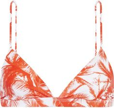 Pin for Later: The Chic Swimsuit Trick to Steal From Emily Ratajkowski  Mikoh Belize Printed Triangle Bikini Top (£45)