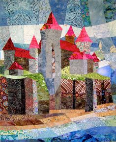 Quilt, Collier - Another utilizing prints with batiks