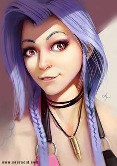 Jinx by SourAcid.deviantart.com on @DeviantArt - More at https://pinterest.com/supergirlsart/ League of Legends #leagueoflegends #lol #jinx #female #champion #fanart
