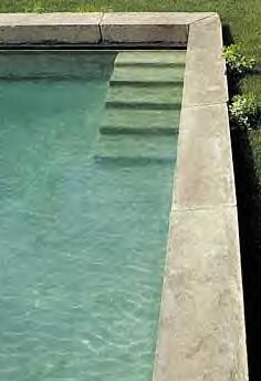 I like the way these stone steps descend into the pool - more reminiscent of a Roman bath than a modern swimming pool.  And the steps don't take up too much space either.