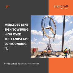 The Mercedes-Benz star has come a long way from its origin in the late 1800's. Now it stands tall and proud with a sleek design, towering over the landscape surrounding it. Contact Signcraft Africa, at info@signcraftafrica.co.za #CEOCircle #signagedesign #signcraftafrica Signage Design, Mercedes Benz, Africa, Star, Landscape, Scenery, Landscape Paintings, All Star, Stars