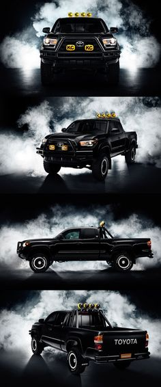 Toyota is celebrating October 2015 – the futuristic date first introduced in Back to the Future Part II – with a re-creation of Marty McFly's dream truck. Using the all-new 2016 Toyota Tacoma that went on sale in September, fans in Los Angeles, New Yo Toyota Tacoma 2015, Toyota 4x4, Toyota Trucks, Toyota Cars, Toyota Hilux, Future Trucks, New Trucks, Cool Trucks, Tacoma Accessories