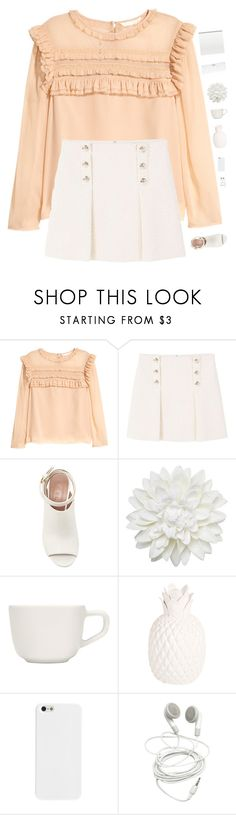 """Peach"" by genesis129 ❤ liked on Polyvore featuring MANGO, Marni, Monki, iittala, Zara Home, Conair and vintage"
