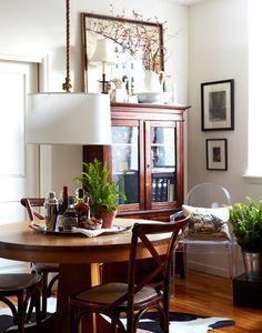Sneak Peek: Best of Indoor Plants. Beautiful ferns in Rachel Krauskopf's New York City dining room. #sneakpeek