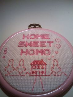 Home Sweet Homo by Jamie Chalmers aka Mr X Stitch