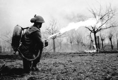 Lifebuoy flamethrower, Xanten, Germany, 10 Mar 1945.  (Library and Archives Canada Photo, MIKAN No. 3524539)