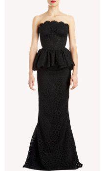 Dolce & Gabbana Lace Peplum Trumpet-skirt Gown