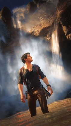 """Uncharted 4 photo mode part Not as great as my other ones but just more character shots and the unintentional """"bromance"""" pics. haha Photo mode collection sets: part. Nathan Uncharted, Uncharted Series, Nathan Drake, Indiana Jones, Lara Croft, Best Games, Fun Games, Gaming Tips, Adventure Games"""