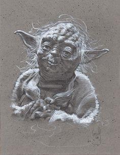 Star Wars Yoda, Original Artwork, Drawing By Jeff Lafferty #PopArt