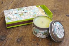 Candle and match set