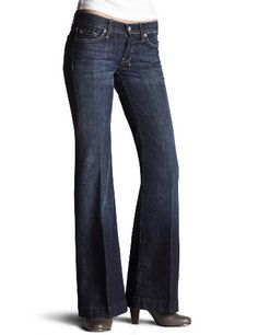 7 For All Mankind Women's Petite Dojo Trouser Jean in New York Dark $116.67 - $118.98