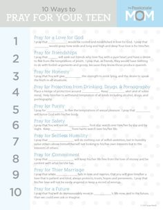 The Passionate Mom: 10 Ways to Pray for Your Teen