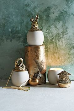 Too cute @illume a fave - i'd pick Anisette (swan) smells of holiday cookies baking! Plust the jar is perf for #jewelry, etc. when done.  Woodland Dweller Candle #anthroregistry