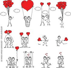 Любовь черно белый рисунок