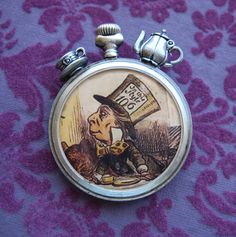 Steampunk style brooch of the Mad Hatter