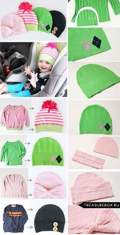 Newest Images sewing tutorials corset Concepts шапка из старого свитера Baby Sewing Projects, Sewing For Kids, Sewing Hacks, Clothes Crafts, Sewing Clothes, Alter Pullover Diy, Old Sweater Crafts, Diy Couture, Sewing For Beginners