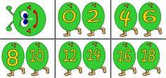 grote rups met even getallen