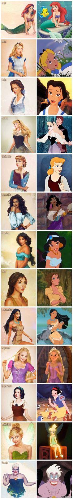 Khi các nhân vật Disney được thể hiện qua nét vẽ siêu thực