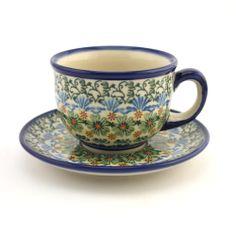 Mug - Polish pottery - This beautiful hand decorated ceramic cup can be used in dishwasher, microwave and oven every day. - Tento krásný keramický hrnek se stane ozdobou každého stolu. Veškerá naše karamika je vhodná pro denní používání v myčkách, mikrovlnných i pečících troubách. Každý jednotlivý výrobek je odekorován ručně pod glazuru zkušenou umělkyní. Proto je každý náš výrobek originál.