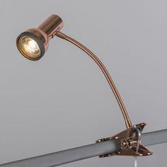 Foco  de pinza SIMPLEX cobre #iluminacion #decoracion #interiorismo