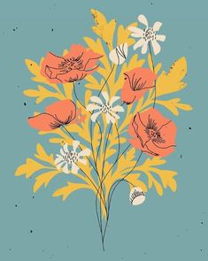 Flowers Background Wallpapers Floral Patterns New Ideas Art And Illustration, Floral Illustrations, Botanical Illustration, Illustration Botanique, Plant Drawing, Drawing Flowers, Ouvrages D'art, Flower Backgrounds, Art Design