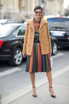 Giovanna Battaglia - Street Style Paris Fashion Week Fall 2014 | Via Harper's BAZAAR