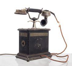 Reichspost Telefon mit Kurbel und Sprechmuschel um 1910 mit Reichsadler-Siemens&Halske - 250 €