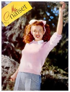 Norma Jeane/ Marilyn Monroe on the cover of Me Naiset magazine, 1953, Finnish. Cover photo by Andre de Dienes, 1945.