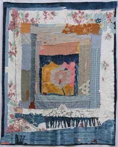 Galleries of textile artwork and art quilts by Helen Geglio. Strip Quilts, Mini Quilts, Textile Fiber Art, Textile Artists, Embroidery Fabric, Fabric Art, Baby Quilts To Make, Collages, Uncommon Threads