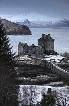 Eilean Donan Castle in winter,Scotland