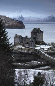 Eilean Donan Castle in winter, Scotland.