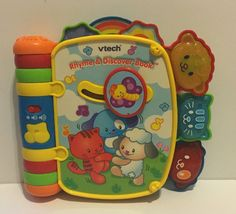 Vtech Rhyme And Discover Book Electronic Toy Preschool Lights Musical Sensory #VTech