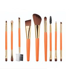 9pcs/Set Professional Makeup Brush Foundation Eye Shadows Lipsticks Powder Make Up Brushes Tools  pincel maquiagem