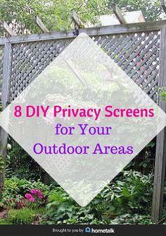 outdoor privacy ideas hide ugly