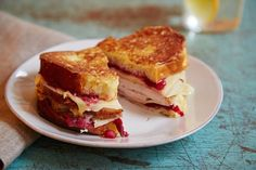 An overstuffed turkey sandwich is as much a part of the post-Thanksgiving game plan as watching football on TV, but this one is so luscious you'll want to make it year- round. Cranberry sauce, mustard, and cheese keep the sliced breast moist, and a golden brown egg batter elevates that old chestnut to showstopper status.