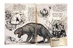 The Purlovia (per-LOH-vee-uh) is one of the Creatures in ARK: Survival Evolved. Purlovia were added in Common Name -&nbsp. Game Ark Survival Evolved, Einstein, The Lost World, Prehistoric Creatures, Creature Design, Fantastic Beasts, T Rex, Game Art, Rpg