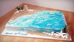 Beach wedding sheet cake