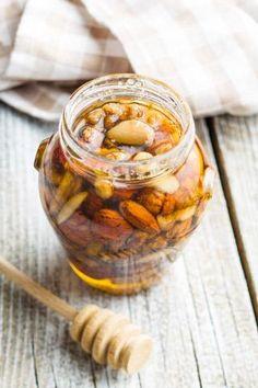 Nødder i honning