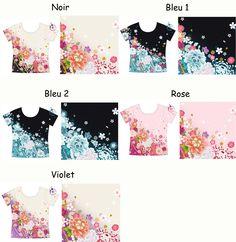 T-shirt manche courte impression Kimono (Précommande)