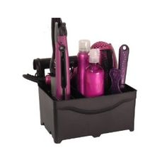 flat iron, curling iron, and blowdryer storage. store it under the sink and it can hang on your towel rack while you're getting ready. I want to buy this for the new apartment!