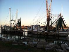 Sunrise on the shrimp boat