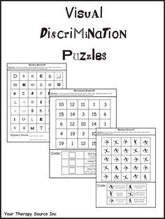 Visual Discrimination Puzzles