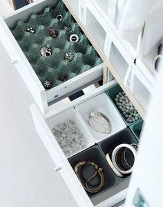 Ideas For Jewerly Organizer Ikea Closet Closet Organizer With Drawers, Closet Organization, Jewelry Organization, Closet Storage, Storage Organization, Small Storage, Diy Storage, Storage Bins, Ikea Jewelry Storage