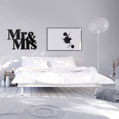 Napis na ścianę MR&MRS